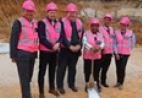 Group present at the construction start